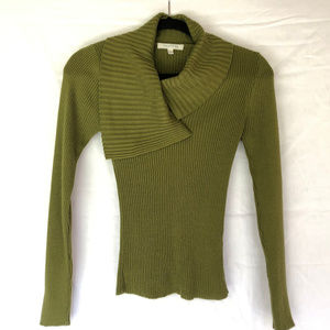 Jacqueline Riu Green Knit Blouse